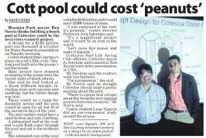 Cott pool could cost 'peanuts'