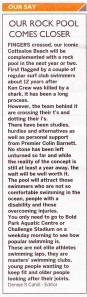 Letter by Denise Cahill the Editor of the  Western Suburbs Weekly 26th Nov 2013, p8