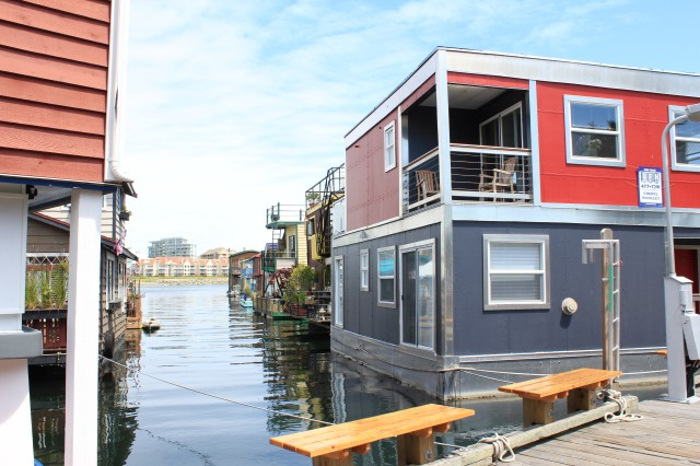 Floating homes, Victoria on Vancouver Island