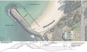 Proposed ocean pool location, Cottesloe Beach, WA