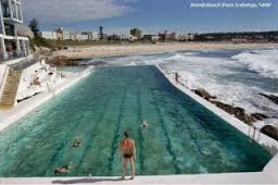 Lap swimmer at the Bondi Ocean Pool