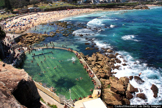 Reason No2. Australians have swimming pools in their oceans (Bronte beach, Sydney)